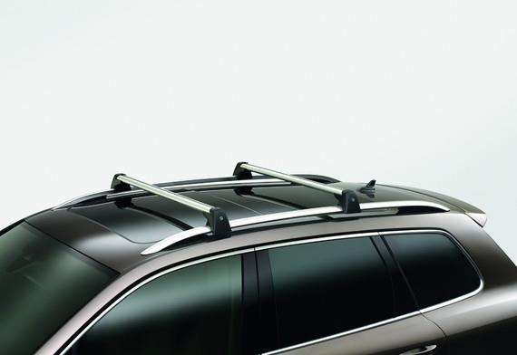 Diagram Base Carrier Bars - For vehicles with factory rails - Silver (7P6071151A) for your Volkswagen Arteon